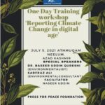 """Press for Peace Foundation organises workshop on """"Reporting Climate Change in Digital Age"""""""